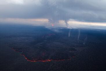 Island2014: Eruption in Holuhraun, nordöstlich von Bàrðarbunga